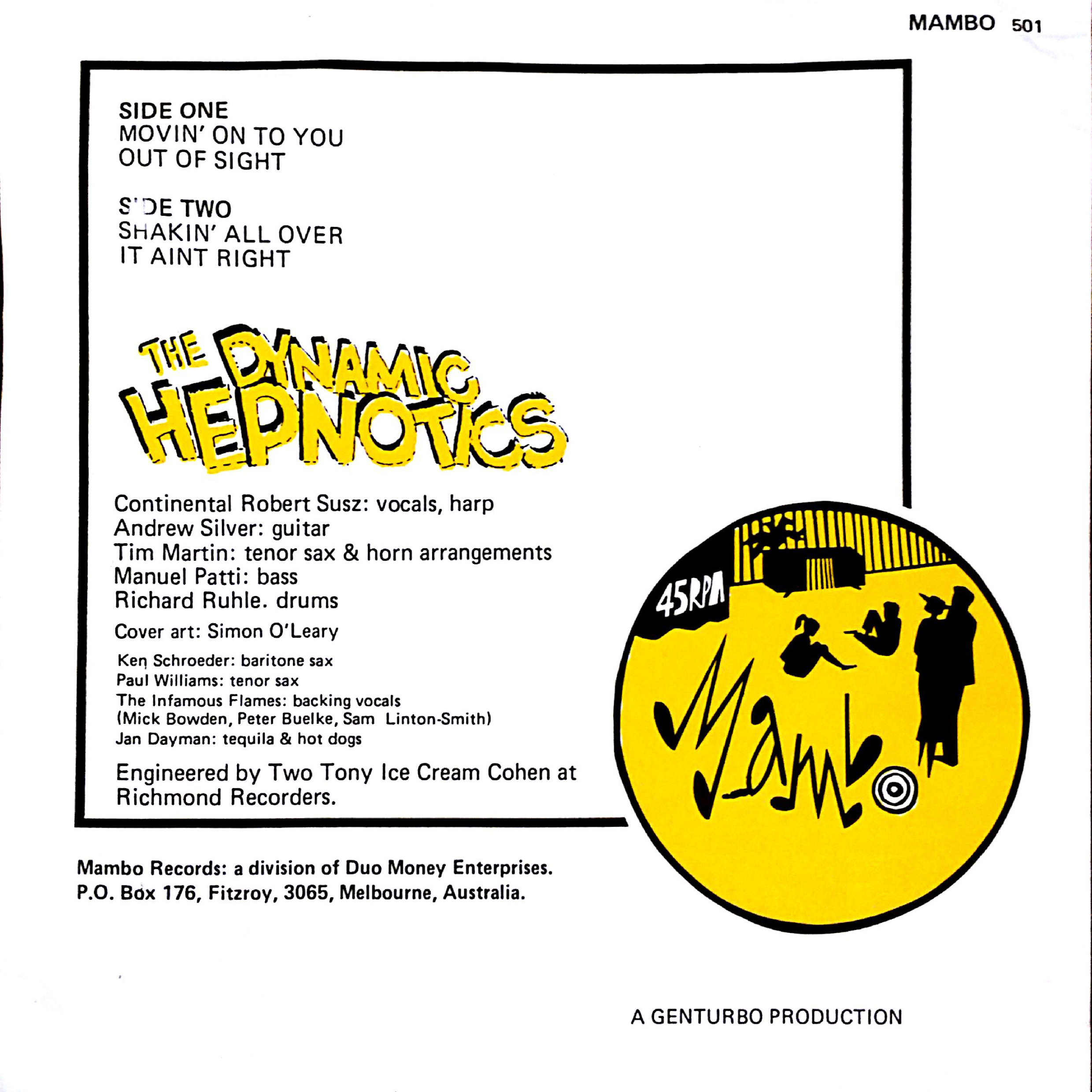 Shakin' All Over EP (1980) | Dynamic Hepnotics | Official Site